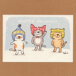 冬のポストカード[NWPC-13]毛糸の帽子