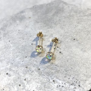PIRI Studs Pierce K10  White Opal