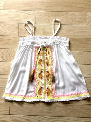 夏はこのセットアップで決まり!!キッズ刺繍キャミソール&ショートパンツ<SKEMO(スケモ)>