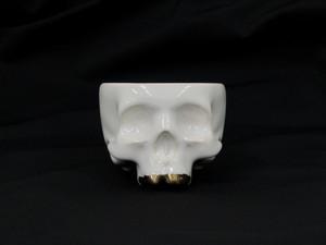 "CALAVERA POT mini ""golden teeth ivory"""