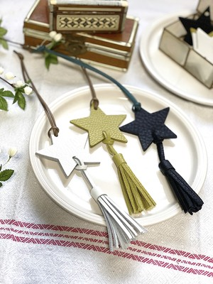 【CASA PICASSO】Leather Shooting Star Charm