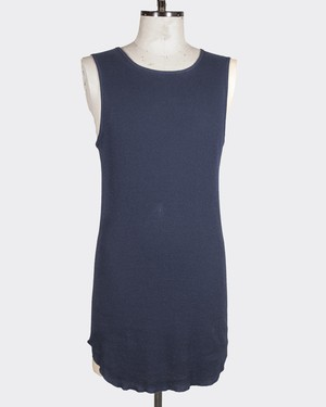 T/f cotton rib tank top - deep sea