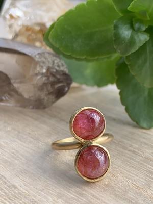 【medusa series】ベトナム産非加熱ピンクサファイアの指輪 B
