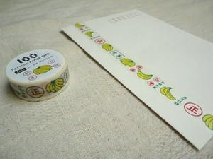 【送料込み】台湾マスキングテープ3巻セット バナナ・パイン・桃