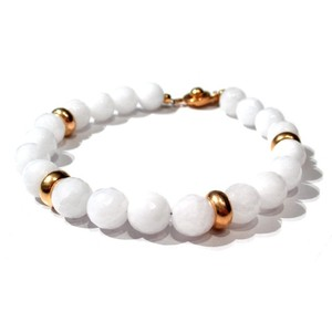 "Golf Ball Bracelet ""White Quartz"" / ゴルフ / ブレスレット"