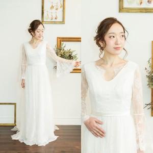 長袖ゆるふわリゾートドレス
