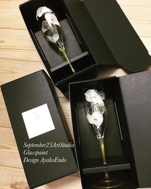 大人ウェディング【カラー】シャンパングラス1客 結婚祝い・結婚記念日ギフト・両親贈呈品