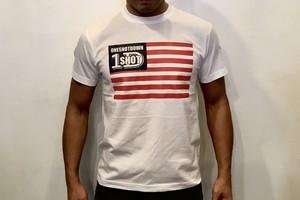 ONESHOTDOWN USA国旗デザインTシャツ