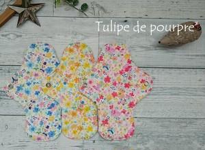 布ナプキンSサイズ(水彩タッチ花うさぎ)