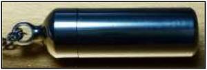 最軽量5.5g:CMC300mg入/金属アレルギー対応/純チタン/CMC ペンダント(NEW Type S) ※受注発注品の為 納期1~2w程※