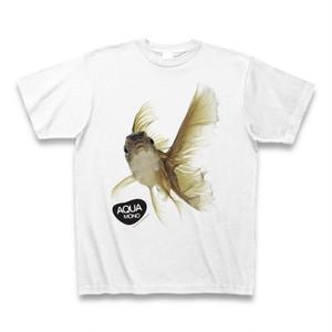 宙を舞う熱帯魚Tシャツ(黒・金) - design by AQUA MONO