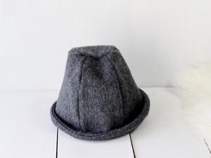 HELMA HAT | SHAGGY WOOL c/#DARKGRAY【M58/L61】