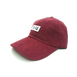 THURSDAY - t/d CORDUROY CAP (Burgundy)