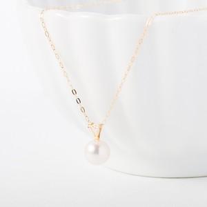 K10*アコヤ真珠のシンプルひとつぶネックレス