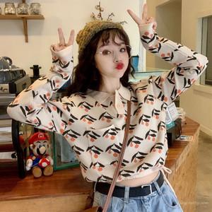 【トップス】秋ショート丈カジュアルスウィートPOLOネックニットセーター