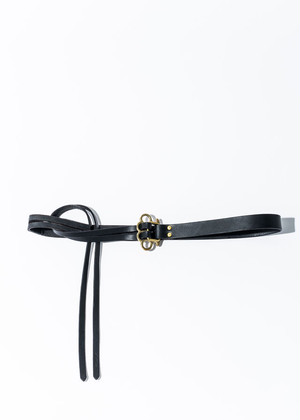nahezu≒gleich / J.C belt black/brass black/black
