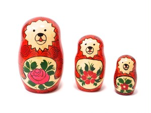 Semenov Bear Matryoshka 3 piece