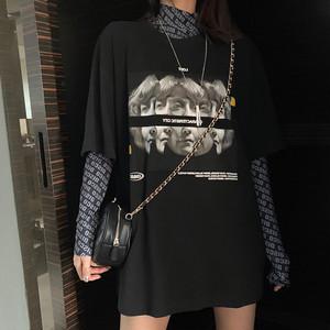 【set】[単品注文]レトロ配色Tシャツ+数字Tシャツセットアップ27540195