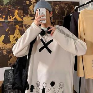 【トップス】カジュアルプリントシンプル長袖アニメTシャツ33406211