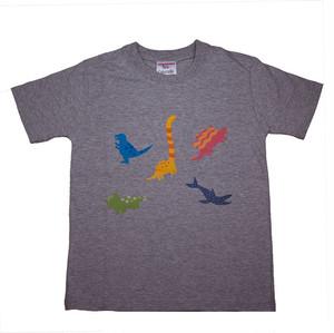 恐竜プリント子供用Tシャツ KT-AS