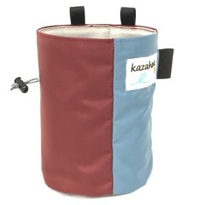 kazahanaチョークバッグ  バーガンディー/ライトブルー
