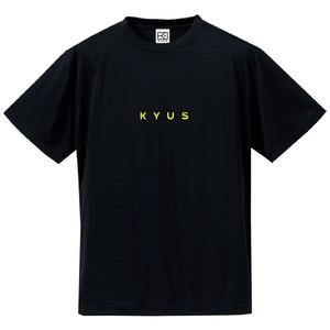 ドライシルキー miniロゴTシャツ(ブラック×フラッシュイエロー)