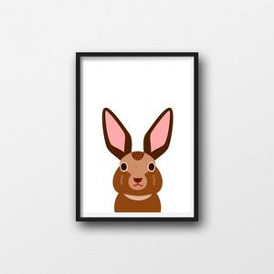 ウサギの顔