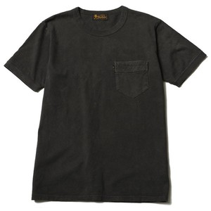 DIA STITCH PKT TEE (DYED BLACK) / RUDE GALLERY BLACK REBEL