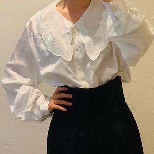 【送料無料】80's Vintage peter pan collar blouse
