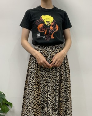 """1990s MADE IN USA FRUIT OF THE LOOM """"SABRETOOTH"""" print T-shirt【14-16】"""