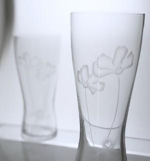 よりそう2輪コスモスグラス(The cosmos pair glass