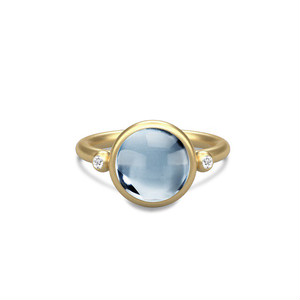 JULIE SANDLAU PRIME RING  ICE BLUE CRYSTAL