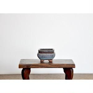 【 豆盆栽鉢 - 舛花色 - 】脚付き / 豆鉢 / 植木鉢 / vintage / bonsai / japan