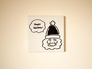 【予約販売】gokigen-santa*Happy Holidays!ファブリックパネル(white)