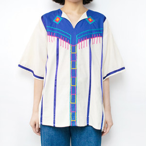 Mexican Embroidered Design Tops