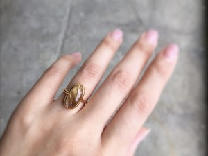 Rutilated Quartz ring ブラジル産