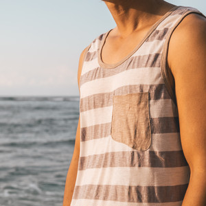 Slub Pocket Tank top