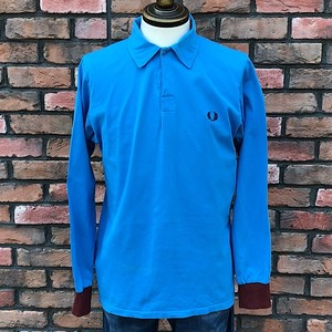 1990s Fred Perry Long sleeve Polo Shirt Designed In England