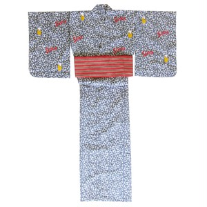 14YWR018 <WOMENS浴衣> MACHINE-EMBROIDERED