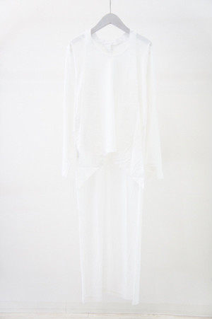 2フェイスカットソー -WHITE×WHITE- / NON TOKYO