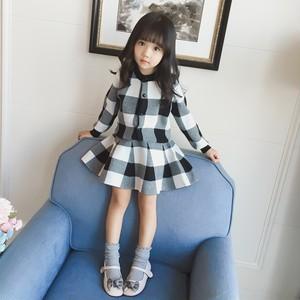 2カラー♡100〜140cm♡ チェック ニット カーディガン & スカート セットアップ / トップス フレアスカート セーター 女の子 子供服 キッズ