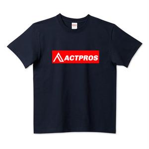 【MEN'S】ACTPROS ボックスロゴ 5.6ハイクオリティーTシャツ(United Athle) ネイビー