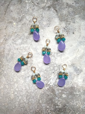 purple jade mix charm
