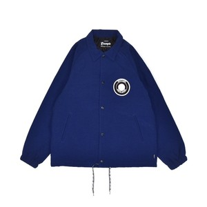 BACK ARCH LOGO NYLON JACKET / DARK BLUE