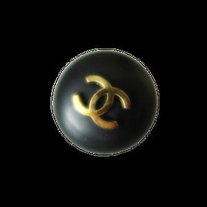 【VINTAGE CHANEL BUTTON】ブラック ココマーク 半球ボタン 16mm C-20006