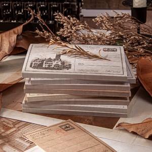 建物 街並み メモパッド 全8種 レトロ ヴィンテージ風 風景 紙もの 素材紙 海外 コラージュ素材 G10
