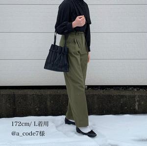 high waist tuck chino 【ivory】【unisex】