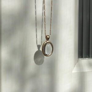 GAGAN crystal necklace 18kgp