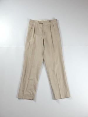 two tuck linen slacks