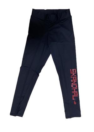 【SKANDHAL】カラー ロゴ レギンス【レッド】【新作】イタリアンウェア【送料無料】《M&W》
